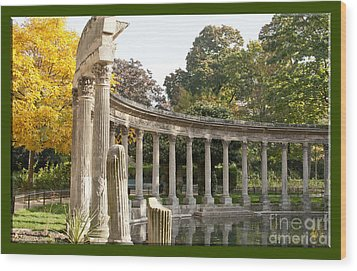 Wood Print featuring the photograph Ruins In The Park by Victoria Harrington