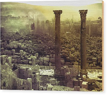 Wood Print featuring the photograph Ruins Of Jurash by Robert G Kernodle