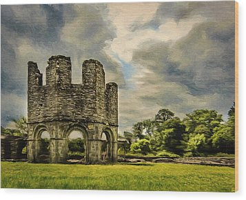 Ruins Of Mellifont Abbey Wood Print by Jeff Kolker