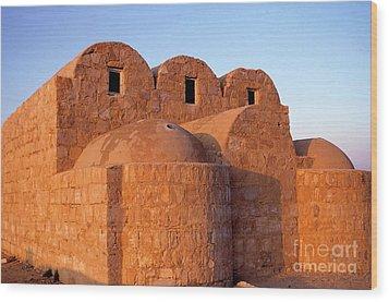 Ruins Of Qasr Amra In Jordan Wood Print by Sami Sarkis