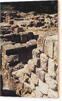 Ruins Of Zippori Wood Print by Thomas R Fletcher