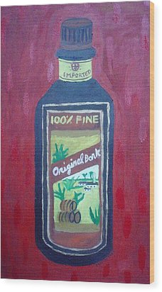 Rum Wood Print by Patrice Tullai