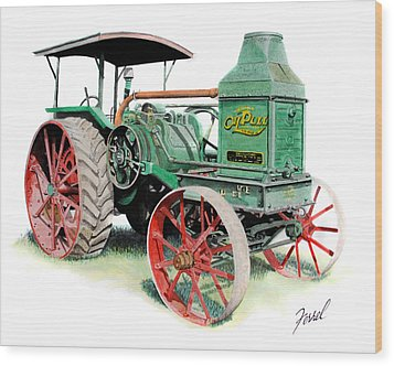 Rumely Oil Pull 2040 Wood Print