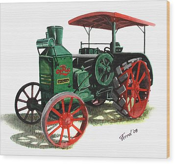 Rumely Oil Pull X Tractor Wood Print