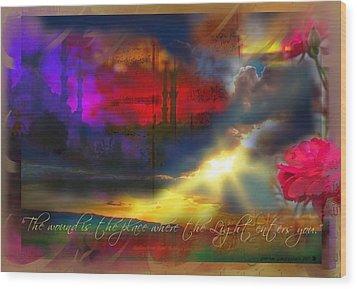 Rumi Rumination-1 Wood Print by Seema Sayyidah