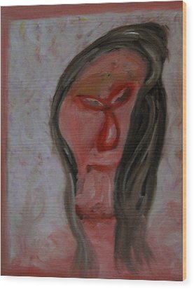 Rumination Wood Print by Patricia Cleasby