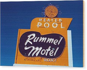 Rummel Motel Wood Print by Matthew Bamberg