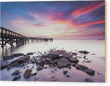 Wood Print featuring the photograph Run To The Sun by Edward Kreis