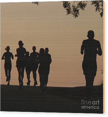 Running Wood Print by Angela Wright