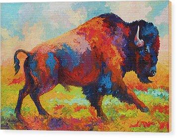 Running Free - Bison Wood Print