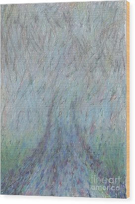 Running Into Fog Wood Print by Andy  Mercer
