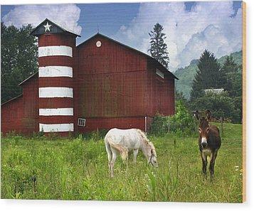 Rural America Wood Print by Lori Deiter
