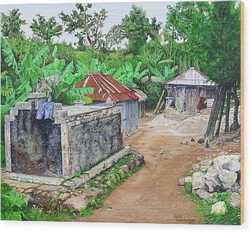 Rural Haiti - A Study In Poignancy Wood Print