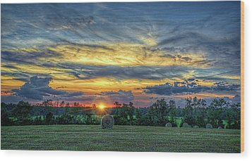 Wood Print featuring the photograph Rural Sunset by Lewis Mann