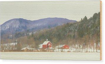 Wood Print featuring the digital art Rural Vermont by Sharon Batdorf