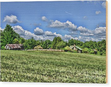 Wood Print featuring the photograph Rural Virginia by Paul Ward
