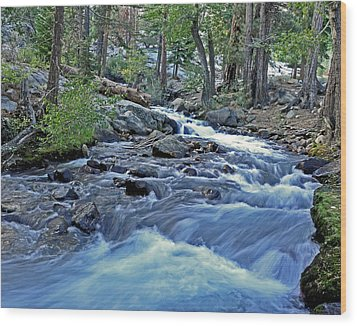 Rushing Riverbend Wood Print