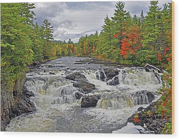 Wood Print featuring the photograph Rushing Towards Fall by Glenn Gordon