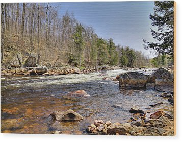 Wood Print featuring the photograph Rushing Waters Of The Moose River by David Patterson