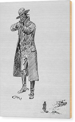 Russell: Stage Robber Wood Print by Granger