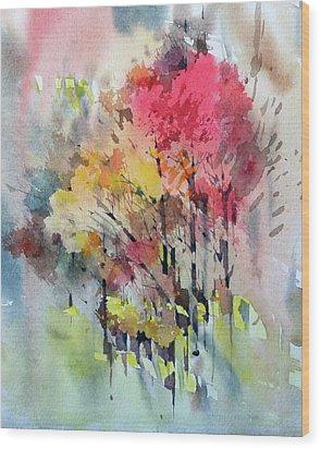 Russian Autumn Wood Print