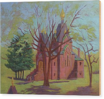 Russian Candles Church Wood Print by Bruce Zboray