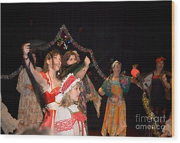 Wood Print featuring the photograph Russian Choir Performing by Yurix Sardinelly