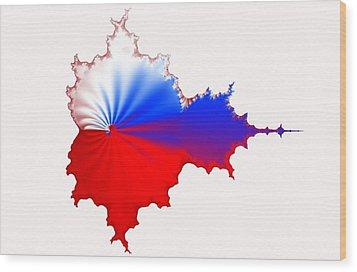 Russian Fractal Curve Wood Print