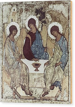 Russian Icons: The Trinity Wood Print by Granger