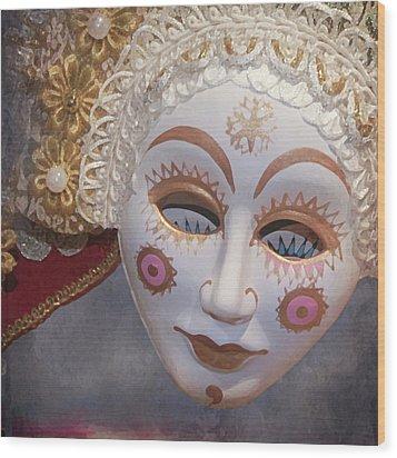Russian Mask 4 Wood Print by Jeff Burgess