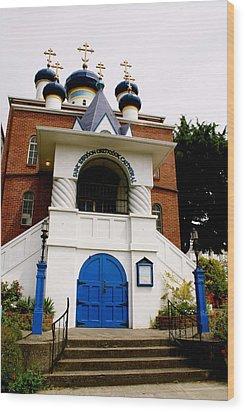 Russian Orthodox Church Wood Print by Sonja Anderson