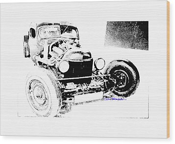 Russian Rat Rod Wood Print by MOTORVATE STUDIO Colin Tresadern