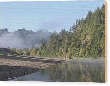 Russian River Morning Glow Wood Print