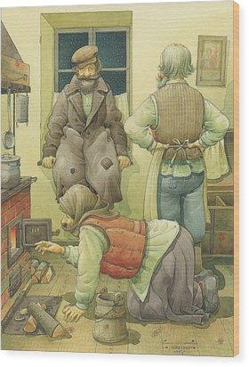 Russian Scene 05 Wood Print by Kestutis Kasparavicius