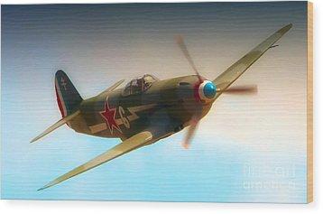 Russian Yak No.6  2011 Chino Air Show Wood Print by Gus McCrea