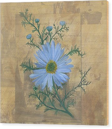 Russias Chamomile Wood Print by Carrie Jackson