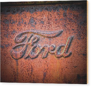 Rust Never Sleeps - Ford Wood Print