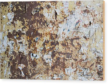 Rust Paper Texture Wood Print by John Williams