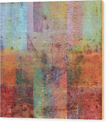 Wood Print featuring the painting Rust Study 1.0 by Michelle Calkins
