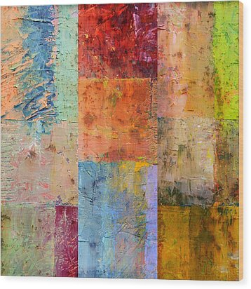 Wood Print featuring the painting Rust Study 2.0 by Michelle Calkins