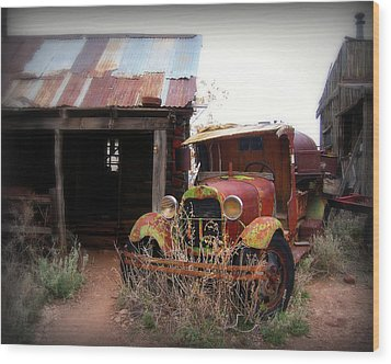 Rusted Classic Wood Print by Perry Webster