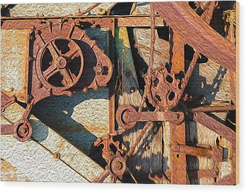Rusted Reaction Wood Print