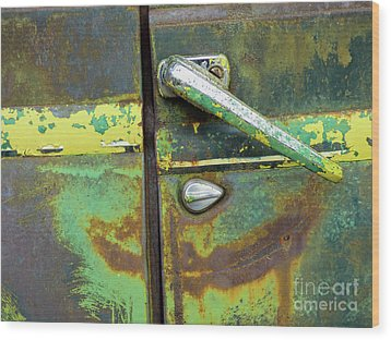Rusted Series 4 Wood Print by Laura Atkinson