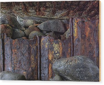Rusted Stones 3 Wood Print