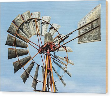 S And L Windmill Wood Print