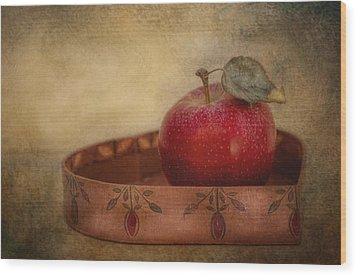 Rustic Apple Wood Print by Robin-Lee Vieira