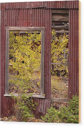 Wood Print featuring the photograph Rustic Autumn by Leland D Howard