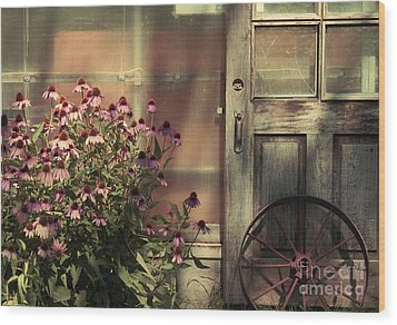 Rustic Corner Wood Print by Aimelle
