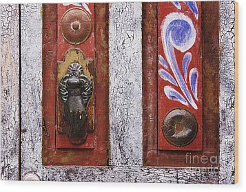 Rustic Door Wood Print by Jeremy Woodhouse