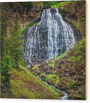 Wood Print featuring the photograph Rustic Falls  by Rikk Flohr
